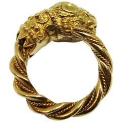 Zolotas Yellow Gold and Gem Set Chimera Ring