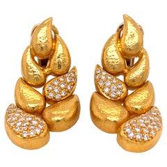 Zolotas Yellow Gold Diamond Earrings
