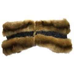 Zondra Rhodes Embellished Light Brown Mink Stole