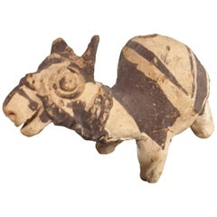Zoomorphic Vessel of a Llama with Black Slip Harness