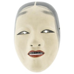 Zo'onna, Noh Mask of a Woman, Japanese Classical Theatre, 19th Century, Wood