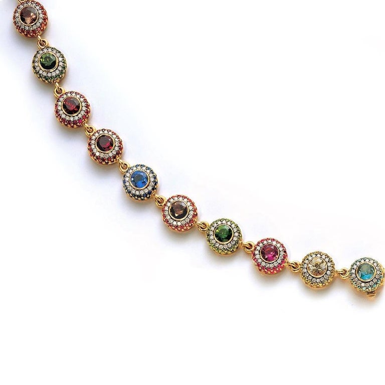Known for their classic elegance  and contemporary styling , Zorab has been creating magnificent jewelry for over 40 years. A family business now run by the second generation specializing in playful yet sophisticated pieces. This bracelet is