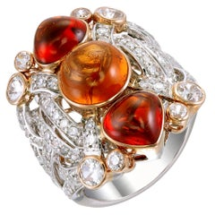 Zorab Creation 10.13 Carat Spessartite Tangerine Dream Ring