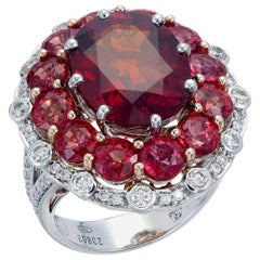 Zorab Creation 11.30 Carat Spessartite Garnet Rouge Succulent Ring