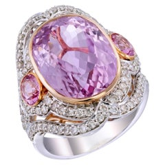 Zorab Creation 14 Carat Pretty in Pink Kunzite Ring