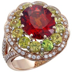 Zorab Creation 7.96 Carat Spessartite Garnet Party Time Ring