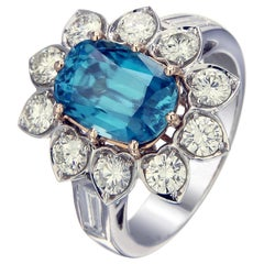 Zorab Creation Blue Lagoon A 5.35-Carat Translucent Blue Zircon Ring