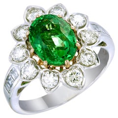 Zorab Creation Green Goddess A 2.89-Carat Oval-Shaped Tsavorite Ring
