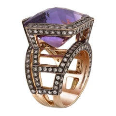 Zorab Creation-Purple Haze 20.13 Carat Amethyst and Diamond Ring