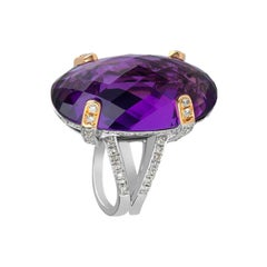 Zorab Creation Regal 22.80 Carat Amethyst Quartz Ring