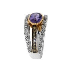 Zorab Creation Tanzanite Trilogy Ring