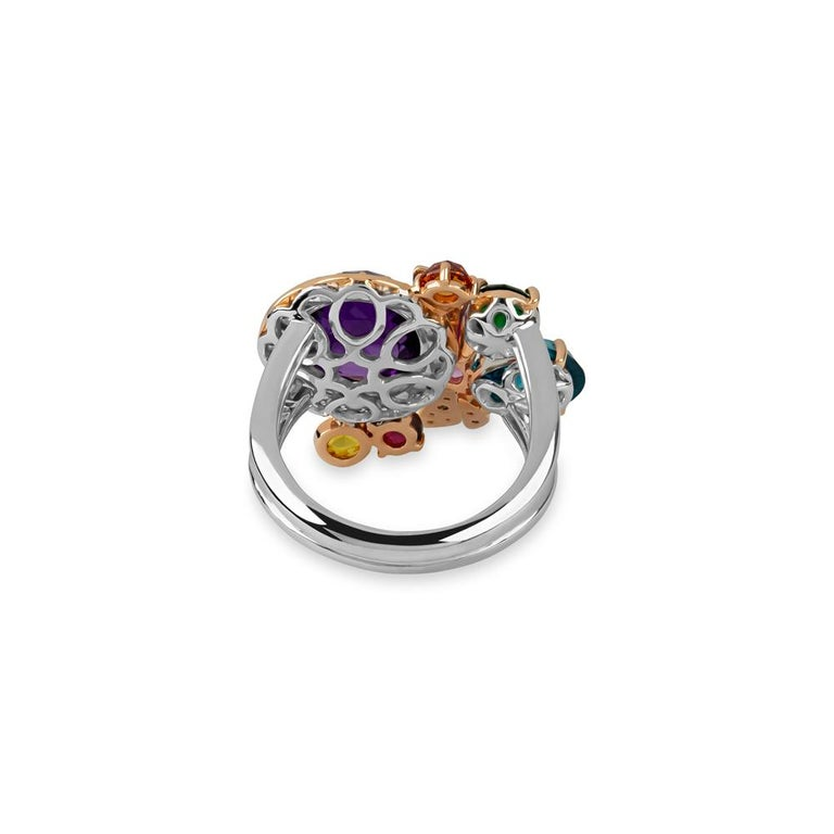Women's or Men's Zorab Creation, the Precious Kaleidoscope Butterfly Color Ring For Sale