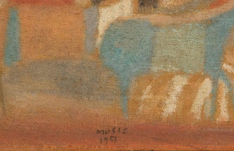 Cavallini (Horses / Caballos)  Painting, oil on canvas - Brown Animal Painting by Zoran Antonio Music