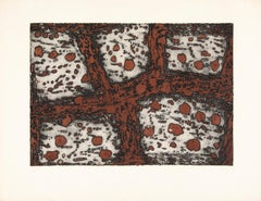 20th Century Abstract Color etching Terre d'Istrie I