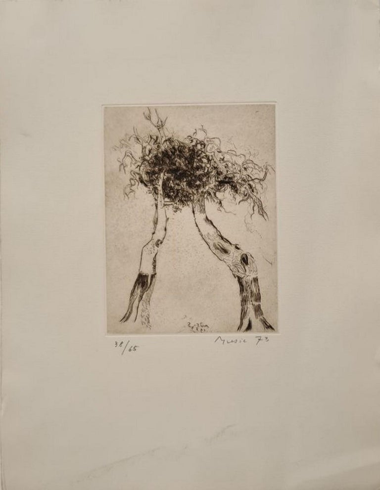 Zoran Antonio Music Abstract Print - Plant pattern