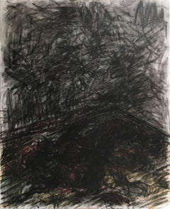 Untitled 01 - Abstract, Contemporary Art, Black, Gestural, 21st Century