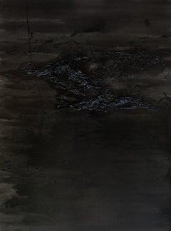 Untitled 01 - Contemporary, Organic, Black, Minimalist, Abstract, Monochrome
