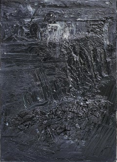 Untitled 02 - Contemporary, Abstract, Black, Monochrome, Organic