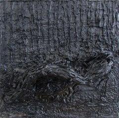 Untitled 02 - Contemporary, Organic, Black, Minimalist, Abstract, Monochrome