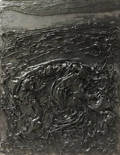 Untitled 02 - 21st Century, Organic, Black, Minimalist, Abstract, Monochrome