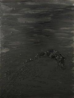 Untitled 03 - Abstract, Monochrome, Black, 21st Century, Organic, Minimalist