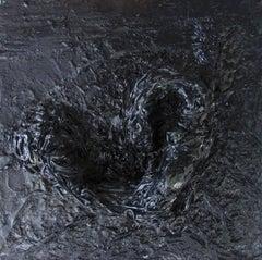 Untitled 03 - Contemporary, Monochrome, Black, Minimalist, Abstract, Organic