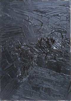 Untitled 05 - 21st Century, Abstract Painting, Black, Monochrome, Organic