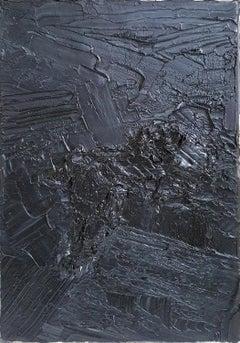 Untitled 05 - 21st Century, Abstract Painting, Black, Monochrome, Organic