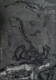 Untitled 05 [Remains of the Remains 05] - Contemporary, Abstract, Black, Gray