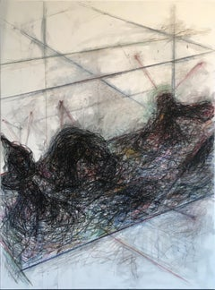 Untitled 06 - Contemporary, Abstract Drawing on Canvas, Organic, Minimalist