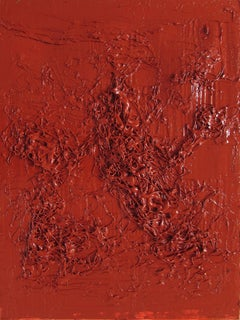 Untitled 07 - Contemporary, Abstract Painting, Monochrome, Red, Minimalist