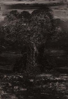 Untitled 2 - Contemporary, Black, Monochrome, Organic, 21st Century