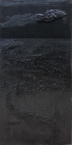 Untitled 5 - 21st Century, Monochrome, Abstract Painting, Black, Organic, Life
