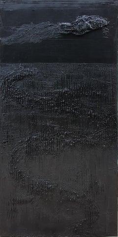 Untitled 5 - 21st Century, Monochrome, Abstract Painting, Black, Organic, Life