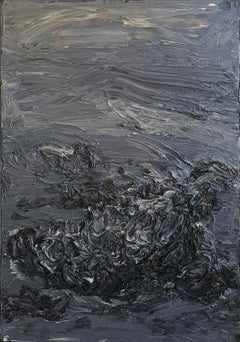 Untitled (Decomposition) - 21st Century, Abstract, Dark Gray, Organic, Black