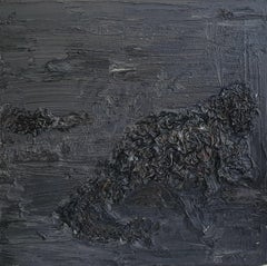 Untitled (Decomposition) - Contemporary, Abstract, Black, Dark Gray, Organic