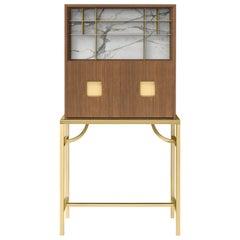 Zuan Oak Tall Cabinet