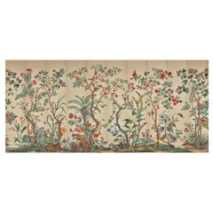 Zuber, 'Decor Chinois' Hand Wood Block Scenic Wall Paper Red Line Color Way