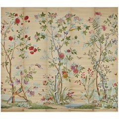 Zuber, 'Decor Chinois' Hand Wood Blocked on Grasscloth Scenic Wall Paper