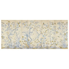 Zuber, 'Decor Chinois' Hand Wood Blocked Scenic Wall Paper in Cornflake Blue