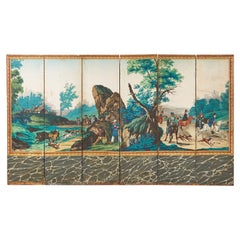 Zuber Six Panel Wallpaper Screen The Hunting Landscape