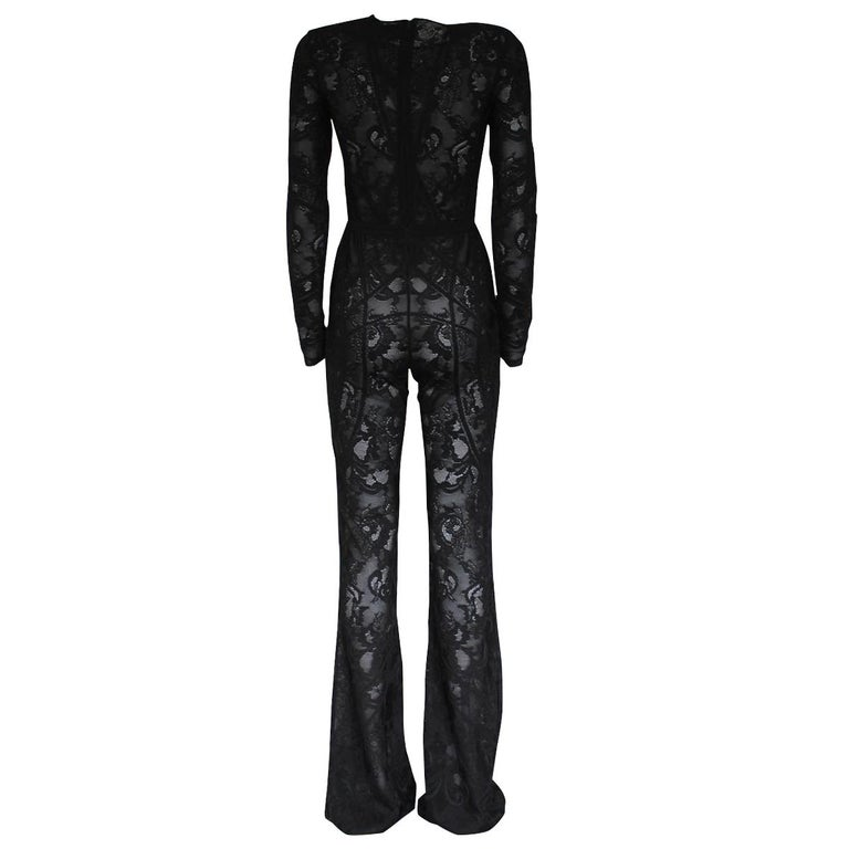 Fantastic Zuhair Murad overall Silk, leather, rayon Viscose (97%) Polyester Black color Long sleeves Pants with large bottom Length shoulder/hem cm 167 (65.7 inches) Shoulder length cm 37 (14.5 inches) WORLDWIDE EXPRESS SHIPPING INCLUDED IN THE