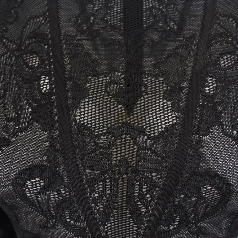 Zuhair Murad Black Lace Overall It 40 In Excellent Condition For Sale In Gazzaniga (BG), IT