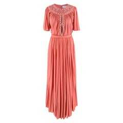 Zuhair Murad Pink Chiffon Embellished Gown - Size US 2