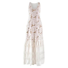 Zuhair Murad White Dropped Waist Dress XS
