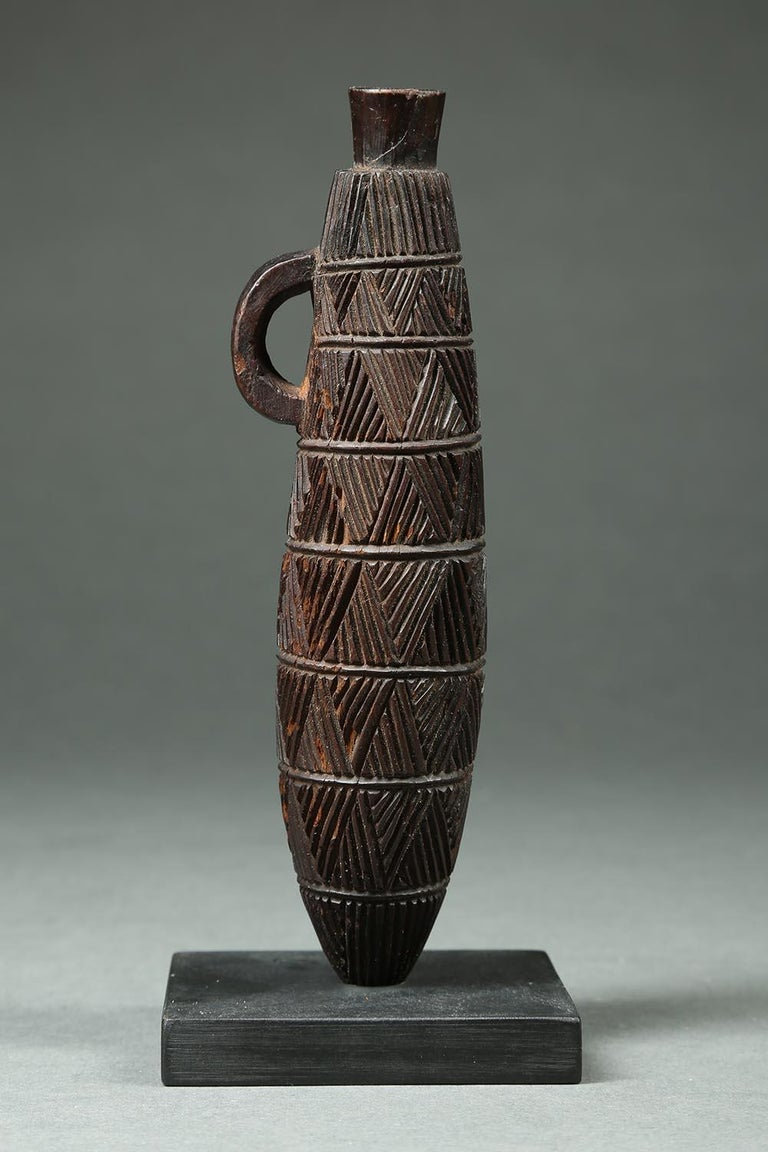 South African Zulu Tribal Carved Wood Snuff Container, South Africa For Sale