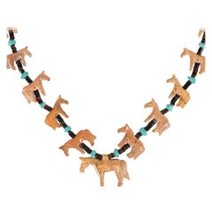 Zuni Horse Fetish Necklace