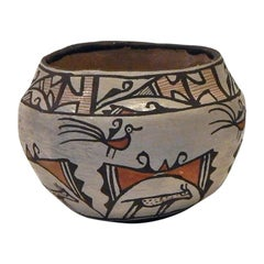 Zuni Native American Heartline Pot