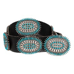 Zuni Needle Point Concho Belt