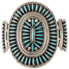 Zuni Sleeping Beauty Petit Point Turquoise Bracelet